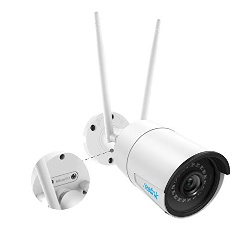 Reolink 4MP Super HD WiFi Security Camera Outdoor, 2.4GHz/5GHz Dual Band WiFi CCTV IP Camera, IP66 Waterproof Night Vision Surveillance Camera with Motion Detection Audio Micro SD Card Slot, RLC-410W