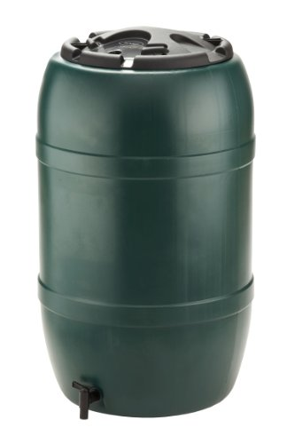 Strata Products Ltd Ward GN325 210L Water Butt including Tap and Lockable Lid - Green/black
