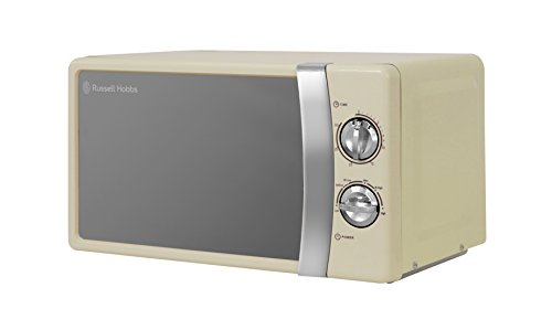 Russell Hobbs RHMM701C 17 Litre 700 W Cream Solo Manual Microwave with 5 Power Levels, Ringer & Timer, Defrost Setting, Easy Clean