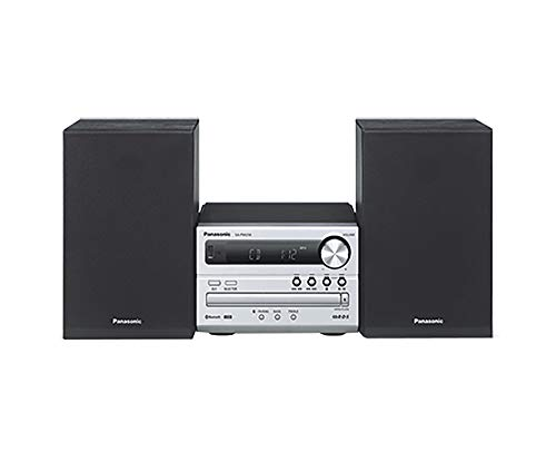 Panasonic SC-PM250BEBS Bluetooth Micro Hi-Fi System with Wireless Technology, Black and Silver