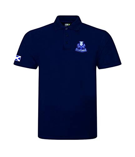Super Lemon Scotland Scottish Adults Rugby Exclusive Retro Vintage Mens Womens Unisex White Polo Shirt, Great for Any English Rugby Fans for 6 Nations and World Cup Available Upto 7XL (5XL)