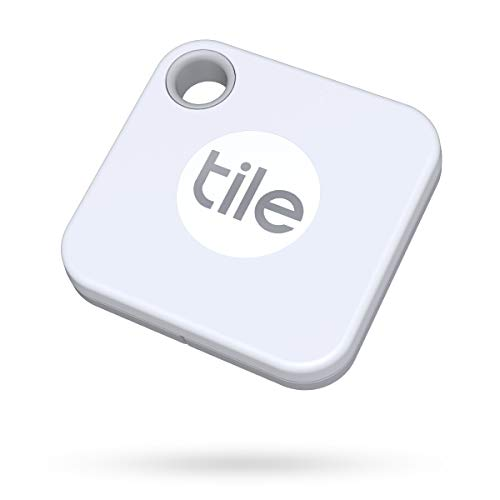 Tile Mate (2020) Bluetooth Item Locator 1 Pack, White. 60m range, 1 year replaceable battery life, works with Alexa and Google Home. Compatible with iOS and Android