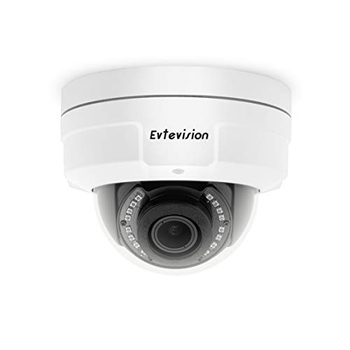 Evtevision 5MP PoE Security Camera 2592x1944 Super HD 5X Optical Zoom Outdoor Indoor Video Surveillance Home IP Security IR Dome Night Vision Motion Detection,Easy Remote View