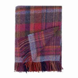 English Country Woollen Throws Bramble   100% New Wool   137 x 182 cm   Mid Weight Authentic Woollen Throw