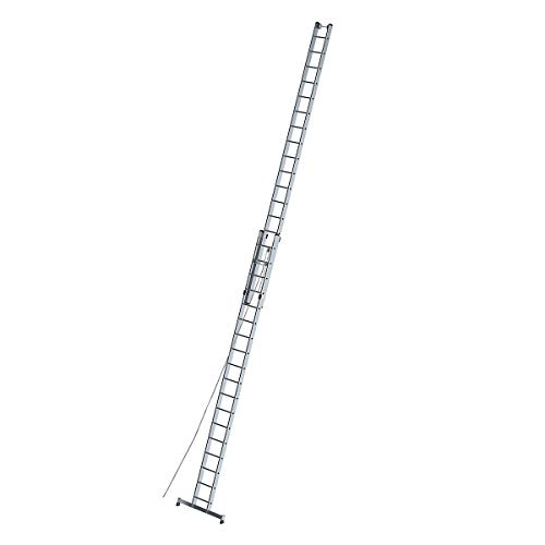 Aluminium Rope-Operated Ladder 2Pieces with Nivello® Traverse 2x 18Rungs–21318