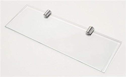 cabinetsforbathrooms Glass Shelf With Two Chrome Finish Brackets 300mm x 100mm Toughened Safety