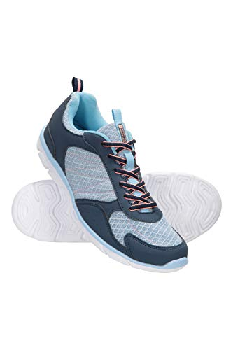 Mountain Warehouse Cruise Womens Running Shoes - Durable Summer Shoes, Breathable Ladies Shoes, Mesh, Rubber Outsole Hiking Shoes, Mesh Lining - for Walking & Travelling Blue Womens Shoe Size 7 UK