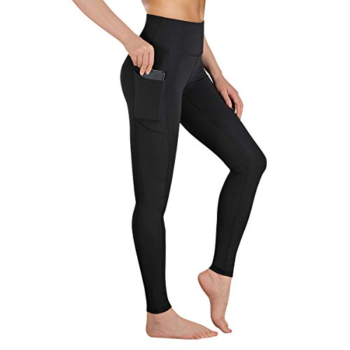 GIMDUMASA Yoga Pants with Pockets, Tummy Control, Workout Running Leggings with Pockets for Women GI188(Black,m)