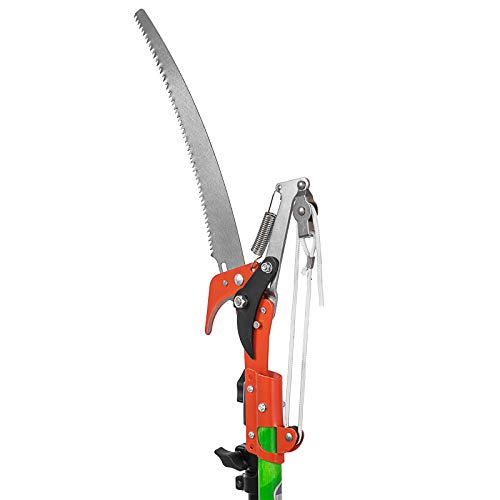 VEVOR Extendable Tree Pole Pruner Telescopic Pole Saw 26 Foot Extendable Telescopic Landscaping Pole Saw Tree Saw Alloy Steel Branch Long Reach Pole Pruning Saw for Sawing and Shearing