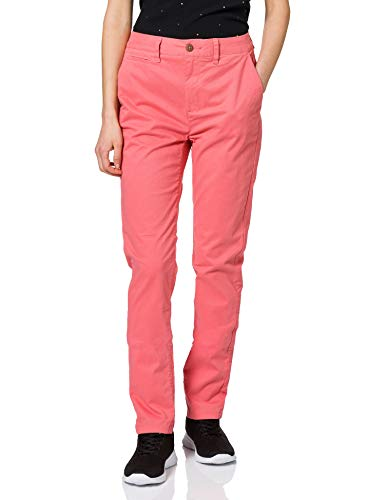 Superdry Women's Slim Chino Trousers, Skate Pink, 32W / 32L