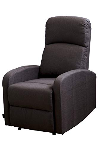 Relax Chair Premium Comfort Plus Microfibre. System Wall Zero. Reinforced Frame. Breathable, anti-wrinkle and Hypoallergenic and auto-reclinable. Medio chocolate