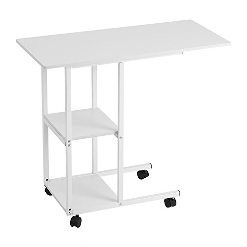 Overbed table, mobile bed table, laptop table, movable over bed table, on wheels, for hospital bed, care bed, sofa desk