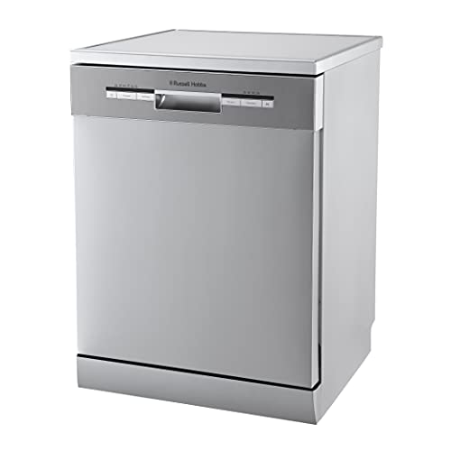 Russell Hobbs Stainless Steel Effect Full Size, 60cm Wide Freestanding Dishwasher, 12 Place Settings, RHDW3SS