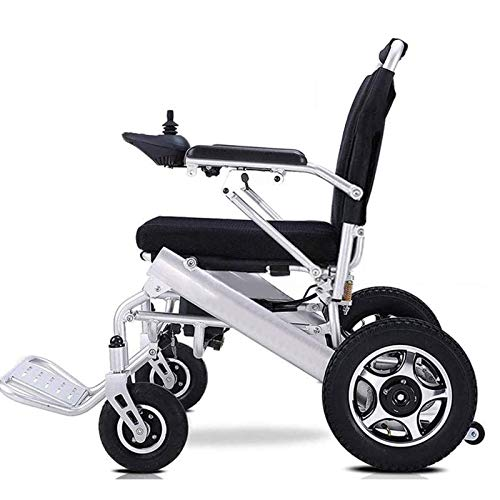 RDJM Deluxe Electric Wheelchair Motorized Fold Foldable Power Wheel Chair, Lightweight Folding Carry Electric Wheelchair, Powerful Dual Motor, Suitable for Elderly and Disabled