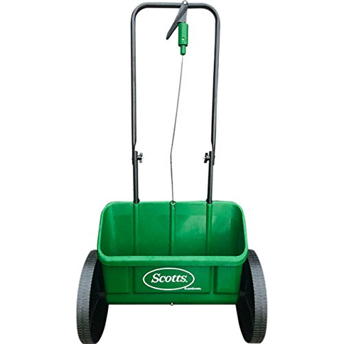 Scotts EvenGreen Drop spreader, Grass and Lawn Seed Spreader, for Easy Application of Lawn Products and Grass Seed