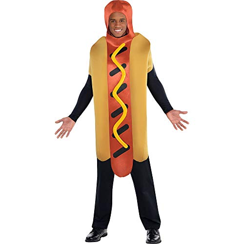 Hot Dog Jumpsuit Adults Fancy Dress American Food Fun Ladies Mens Costume Outfit
