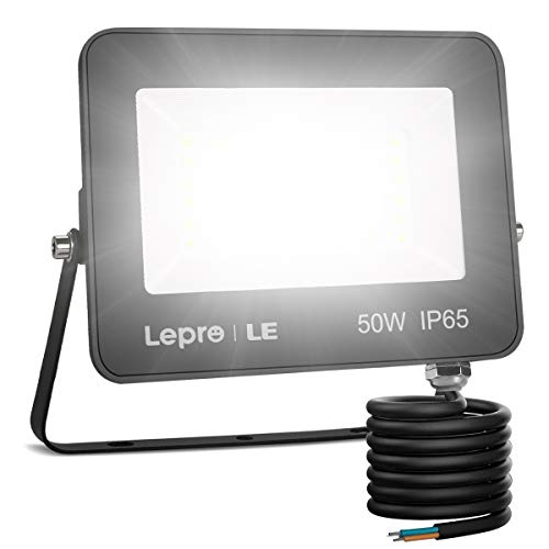 Lepro 50W Led Floodlight Outdoor, 4250lm LED Security Lights, 350W Incandescent Lamp Equivalent, Waterproof IP65, Daylight White Outdoor Lights for Warehouse, Playground, Backyard and More