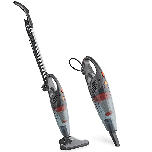 VonHaus Stick Vacuum Cleaner 600W Corded – 2 in 1 Upright & Handheld Vacuum Cleaner with Lightweight Design, HEPA Filtration & Crevice Tool