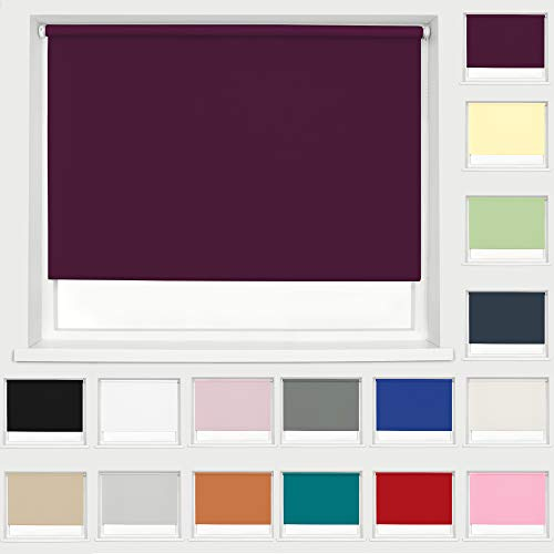 Thermal Blackout Fabric Roller Blind Aubergine 060cm