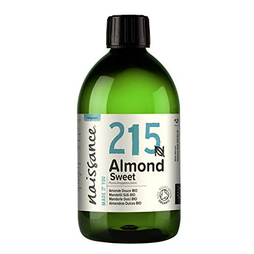 Naissance Organic Sweet Almond Oil (no. 215) 500ml - Pure & Natural, Certified Organic, Cold Pressed, Vegan, Hexane Free & No GMO