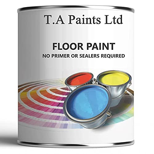 TA Paints Multi Purpose Floor Paint for Concrete Garage Workshops and Factory Floors to Brick Stone, Wooden and Metal Floor Hard Wearing (Goosewing Grey BS 00 A 05, 1L)