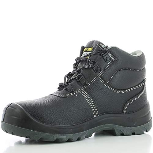 Safety Jogger Safety Boot - Steel Toe Cap S3/S1P Work Shoe for Men or Women, Anti Slip Puncture Resistant Steel Sole, Shock Absorbing, Water and Oil Repellant, UK 5 EU 38, Bestboy, Leather, black