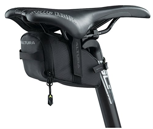 Altura Night Vision Road Cycling Saddle Bag - Black, Medium/NV Seat Pack Bicycle Cycle Bike Accessories Riding Ride Survival Essential Tyre Lever Multi Tool Spare Storage Holder Commute Kit Luggage