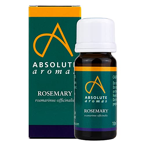 Absolute Aromas Rosemary Essential Oil 10ml - 100% Pure, Natural, Undiluted, Cruelty Free and Vegan – for use in Aromatherapy, Diffusers, Hair Care and Skincare