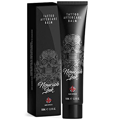 Nourish Ink | Professional Tattoo Aftercare Cream/Balm 100ml | Developed & Manufactured by Nourish Ink | Made in the United Kingdom | For Direct Use on Fresh Tattoos & Continual Aftercare