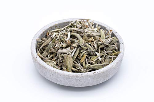 Organic Fairtrade sage Leaves - 500g - Whole Leaves - Ideal for sage Tea - Dried in The Shade - from Uzbekistan