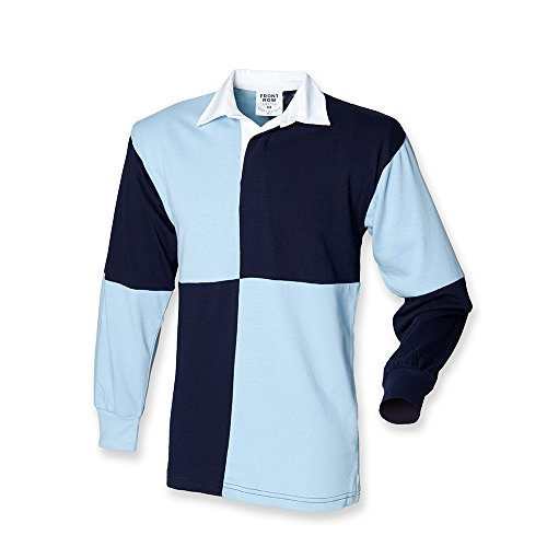 Front Row Quartered Rugby Shirt : Color - Navy : Size - L