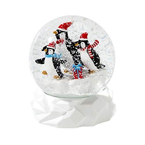 Talking Tables Penguin Snow Globe Christmas Xmas Table Decorations and Gift, 12cm