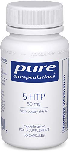 Pure Encapsulations - 5-HTP (5-Hydroxytryptophan) 50 mg - Hypoallergenic Amino Acid Dietary Supplement - 60 Capsules
