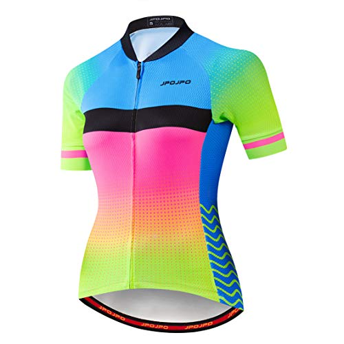 weimostar Cycling jersey Womens Bike jersey zip Mountain cycle Shirts Short sleeve Road Bicycle tops Pro team racing MTB Tops for ladies female clothing wear Size XL