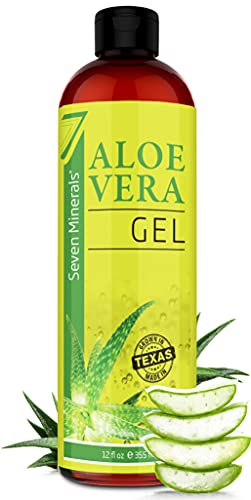 Organic Aloe Vera Gel with 100% Pure Aloe from Freshly Cut Aloe - NO ACRYLATES & CROSSPOLYMERS, so it absorbs rapidly with No sticky residue - Big 355 ml / 12 fl oz
