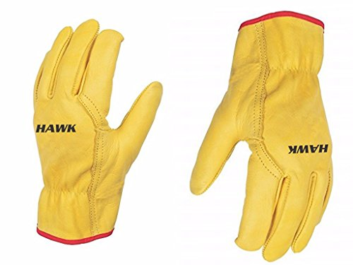 Unisex Leather Driving Gloves - Premium Quality - Driver/Lorry/Car - Skin Tight/Slick Fir - WITHOUT LINING (UNLINED) - Ladies Men - 2 Gloves (Large)
