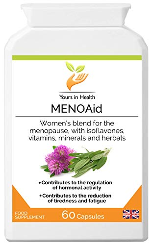 Quality MENOAid - Herbal Combination to Help Relieve Symptoms associated with premenstrual Syndrome, hormonal imbalance and The Menopause - Manufactured in The UK to high Standards
