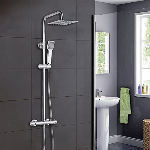 Xinyang Bathroom Thermostatic Valve Shower Mixer Set, Handheld Shower and with 8