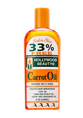 HOLLYWOOD BEAUTY Carrot Oil Repairs Split Ends 8oz/236ml