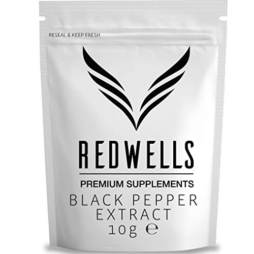 Black Pepper Extract Powder 95% Piperine Herbal Extract REDWELLS - 10g Pack