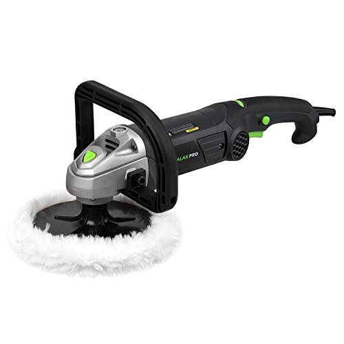 GALAX PRO 1200W Car Polisher, 6 Variable Speed Car Buffer 600-3500RPM,Detachable D Shape Handle, Soft Star Trigger, Ideal for Polishing Home Appliance, Furniture, Ceramic, Car &Boat Detailing