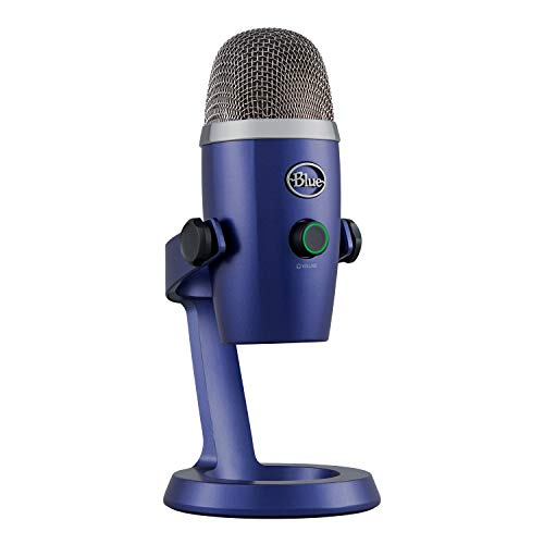 Blue Microphones 988-000206 Yeti Nano Professional Condenser USB Microphone with Multiple Pickup Patterns and No-Latency Monitoring for Recording and Streaming on PC and Mac, Vivid Blue Microphones