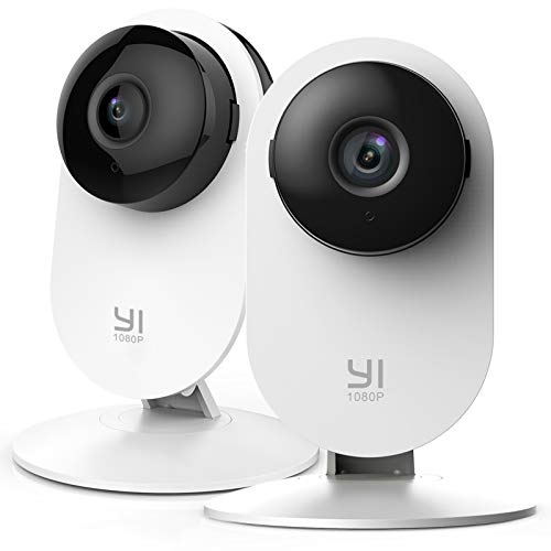 YI Home 1080P Security Camera Twin-pack, WiFi Indoor IP Camera with Night Vision, Motion Detection, 2-way audio, Home Security Surveillance System for House/Office/Pet/Baby/Elder/Remote Monitor(2 pcs)