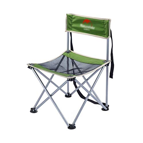 Camping Chair, Outdoor Folding Chair Portable Lightweight Folding Beach Chairs Easy To Install Fishing Chair (Color : Green)