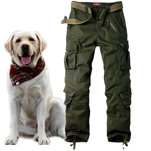 Jessie Kidden Men's Combat Camo Cargo Trousers Camouflage Army Military Tactical Work Pants #7533 Army Green-34