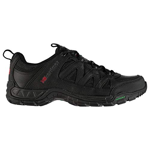 Karrimor Mens Summit Leather Walking Shoes Non Waterproof Lace Up Padded Ankle Black UK 7 (41)