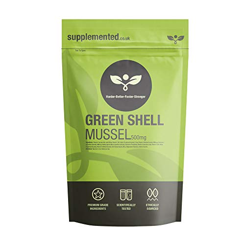 Green Lipped Mussel Extract 180 Capsules (Green Shell Mussel) 500mg Joint Pain Relief UK Made. Pharmaceutical Grade