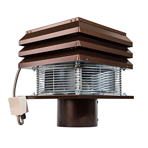 Chimney Fan for Round Flue 20 cm 200 mm Electric Chimney Fan Chimney Ventilation Fans Rooftop Inducer Fans Chimney Exhaust Fan for BBQ Hut Fireplace Thermo Stove Professional Gemi Elettronica