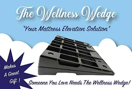 The Wellness Wedge Your Mattress Elevation Solution; Two Pack of Plastic Wedges