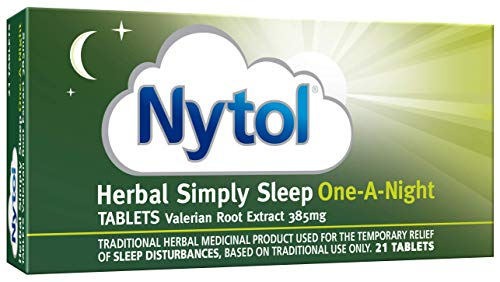 Nytol Herbal Simply Sleep One A Night Tablets - Remedy for Sleeplessness Relief - 21 Tablets